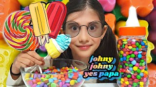 Download Learn Colors with M&M Candy Lollipops JOHNY JOHNY YES PAPA Nursery Rhymes Mp3 and Videos