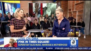 P!nk: Chats New Music, Marriage & Motherhood With (GMA)