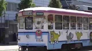 広島電鉄 1150形1156号車 広電本社前電停にて 20171004