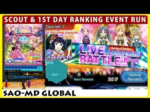 PopStar Online Live Battle Part 1 & Cutie Pop Rockers Scout (SAOMD Memory Defrag)