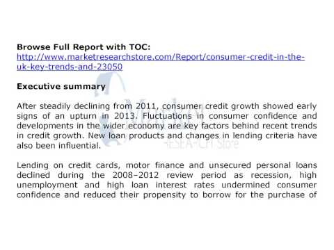 UK Consumer credit Market key trends and opportuni