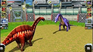 Jurassic Park Builder JURASSIC Tournament Android Gameplay Amargasaurus VS Dreadnoughtus