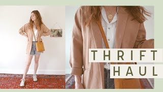 Thrift Try On Haul with Outfits for Spring! #Haulternative | Alli Cherry