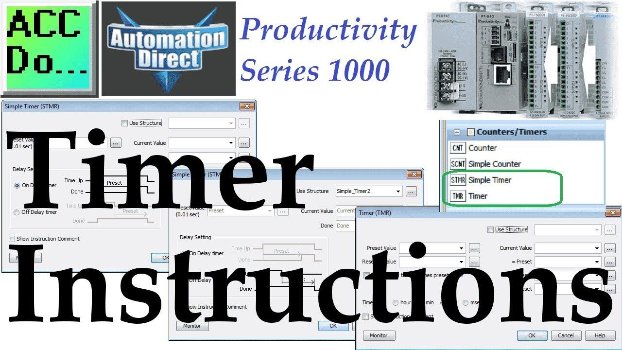 Productivity 1000 Series PLC Timer Instructions