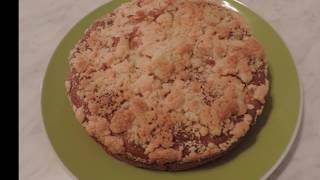 Яблочный ПИРОГ за 7 минут. Быстрый  Пирог на сметане к чаю. Рецепт пирога с яблоками.