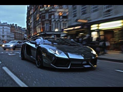 LOUD Black Chrome Lamborghini Aventador Crazy SOUNDS & Details!
