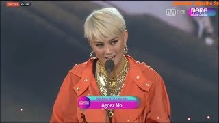 Download Video AGNEZ MO - WIN BEST ASIAN ARTIST INDONESIA MAMA 2017 MP3 3GP MP4