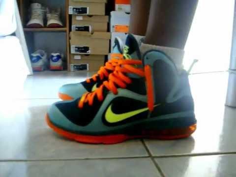 Nike Lebron 9 Cannon on feet - YouTube 785b023c6