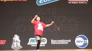2012 Japan National Yo-Yo Contest 2A semi final Runa Takahashi.