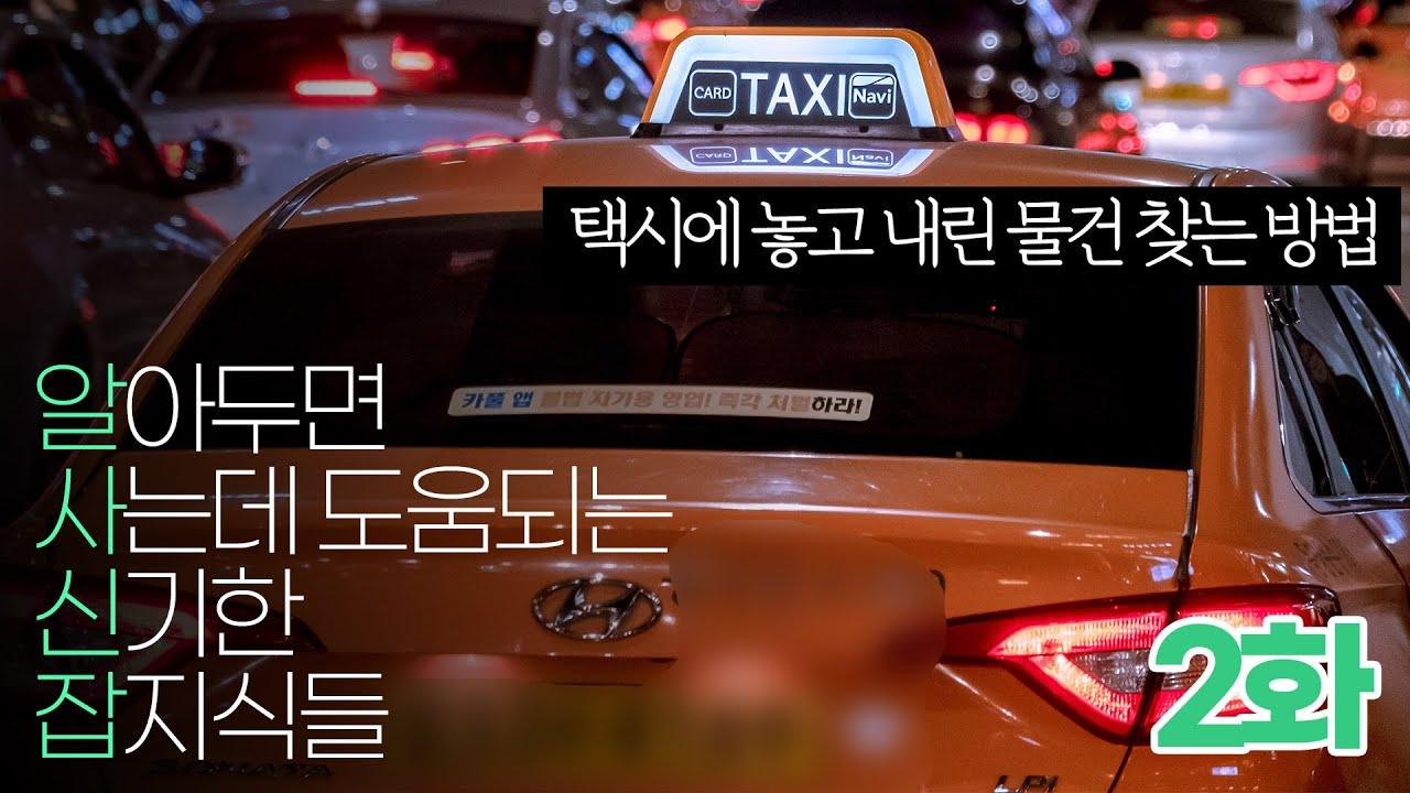 (2화) 알아두면 사는데 도움되는 신기한 잡지식들 !! - 택시에서 카드 결제시 택시에 두고온 물건을 찾을 수 있다?!