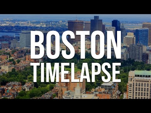 Boston Timelapse from Prudential Tower and Skywalk Observatory