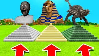 Minecraft PE : DO NOT CHOOSE THE WRONG PYRAMID! (Granny, Pharaoh & Ankylosaurus)
