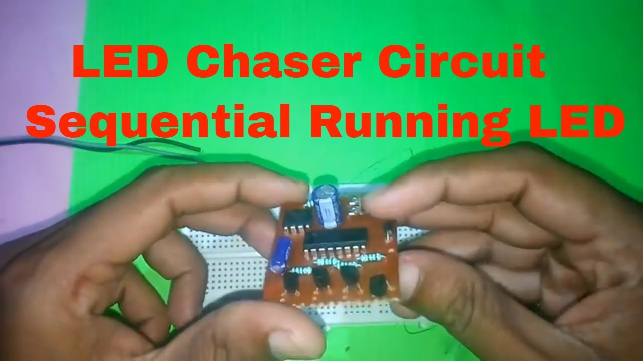 How to Make LED Chaser Circuit by Using IC 555 and IC 4017 | Sequential  Flashing LED