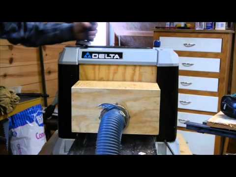 Planer Dust Collection Solution Youtube