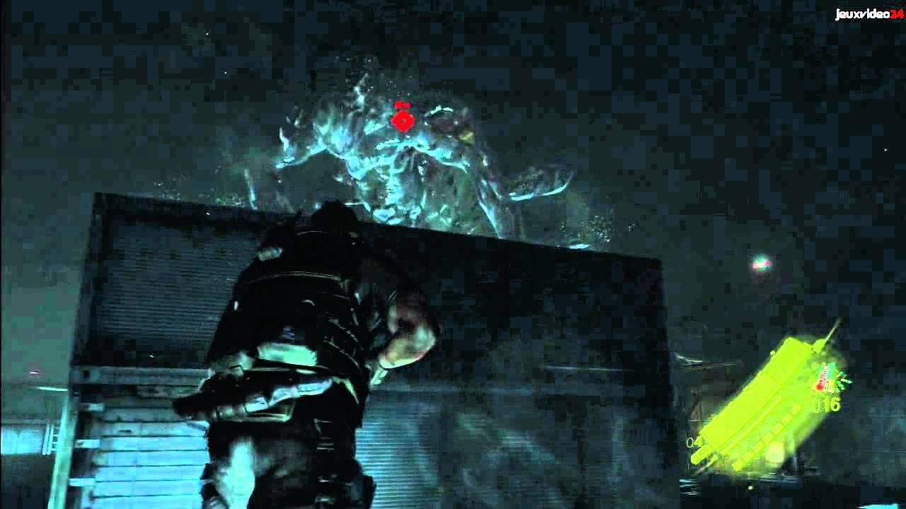 resident evil 6 chris final boss running
