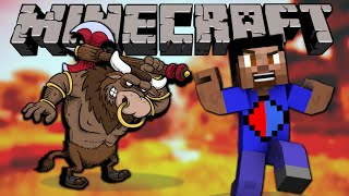 Minecraft RUN FROM THE BEAST #2 with The Pack (Minecraft Minotaur Madness)