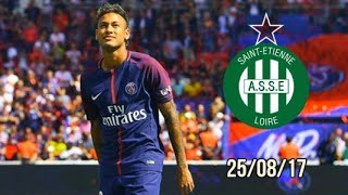 Neymar vs Saint Etienne (home) HD (25/08/17) Ligue 1 (3-0)