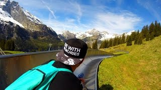 BUCKET LIST - Mountain coaster in Alps, Kandersteg, Switzerland (GoPro)