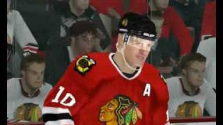 NHL 2004 gameplay - with gfx up to date - Chi vs Col