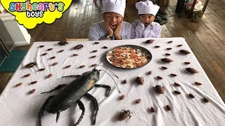 COCKROACH INVASION Part 2! Skyheart Daddy epic battle with cockroaches insect toys for kids