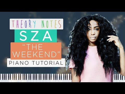 How to Play SZA - The Weekend | Theory Notes Piano Tutorial