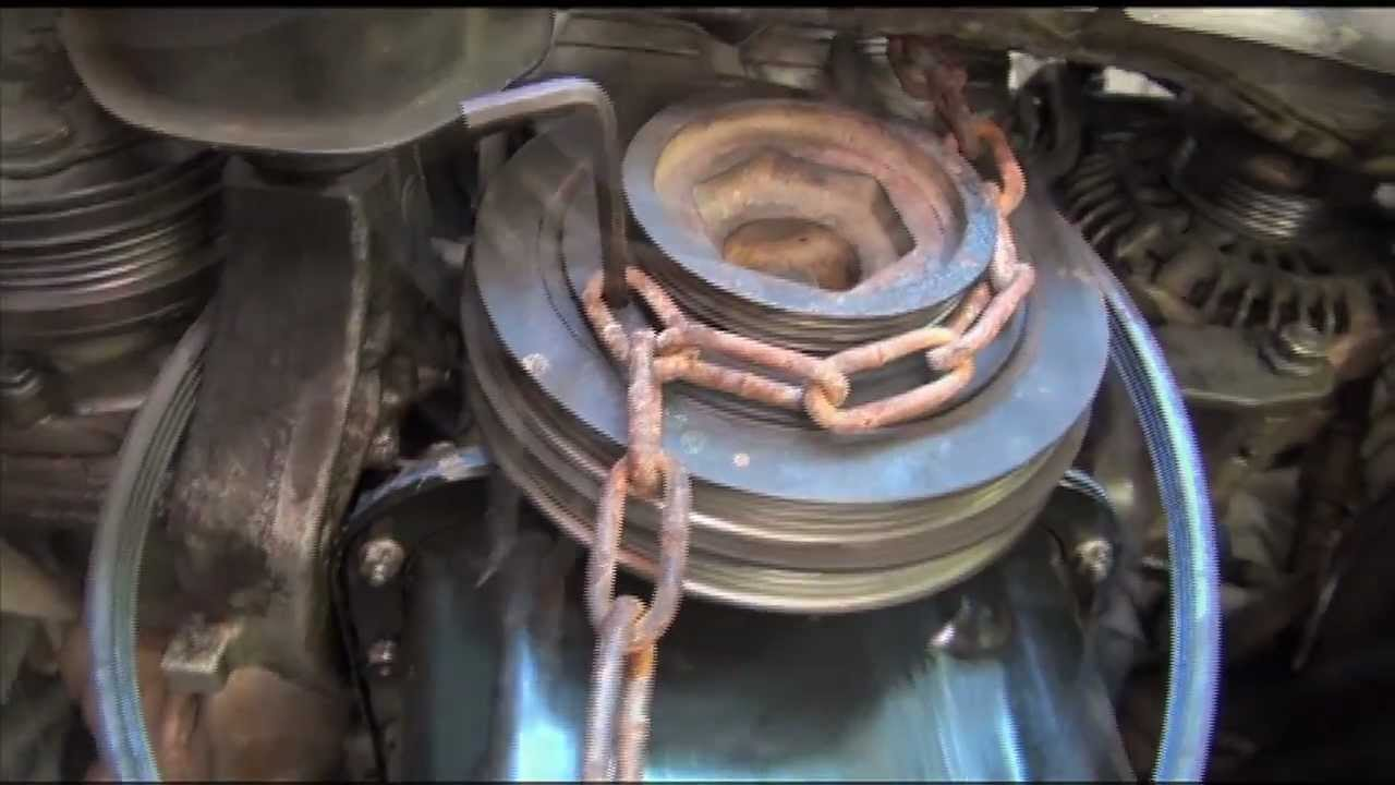 remove  install crankshaft pulley bolt on honda