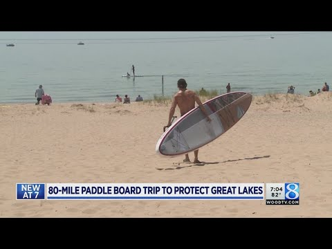 W. MI man preps for paddleboard journey across Lake MI