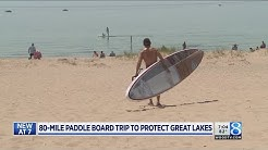 W. MI man preps for paddleboard journey across Lake MI