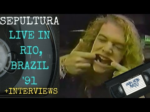 Sepultura Live in Rio Brazil January 23 1991 with Interview