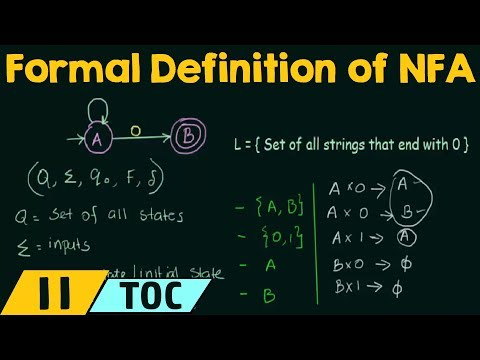 Formal definition of NFA