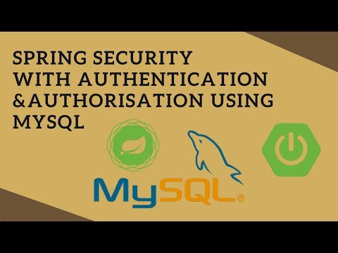 Spring Security (Authentication & Authorisation from MySQL) in Spring Boot App | Tech Primers