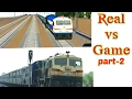 Real vs Game -2 Indian train simulator(passenger express)