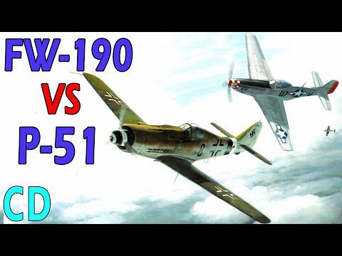 Focke-Wulf FW-190 vs P-51 Mustang - Which was better?