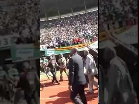 Crowd Erupts for Chamisa At National Sports Independence Celebrations