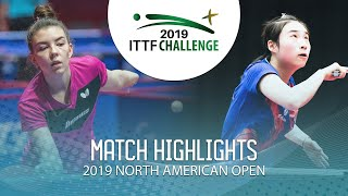 Мария Тайлакова vs Wang Xiaotong | North American Open 2019(U21 1/2)