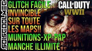 GLITCH INVINCIBLE! PACK A PUNCH MUNITIONS-MANCHE-XP ILLIMITÉ! SUR TOUTE LES MAPS! COD WW2 ZOMBIE!