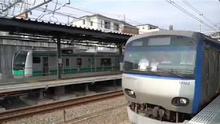 相鉄線に初入線!E233系(埼京・川越線用)西谷駅に入線 2019年8月19日