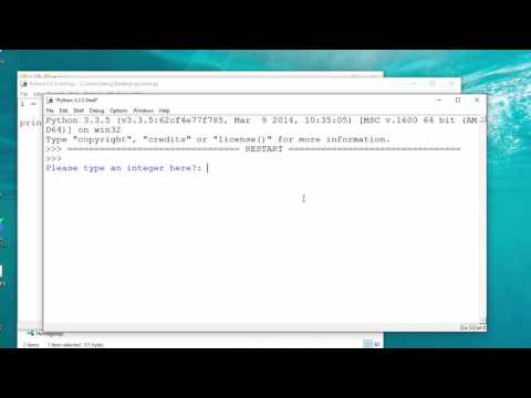 How To Take Integer Input From User In Python
