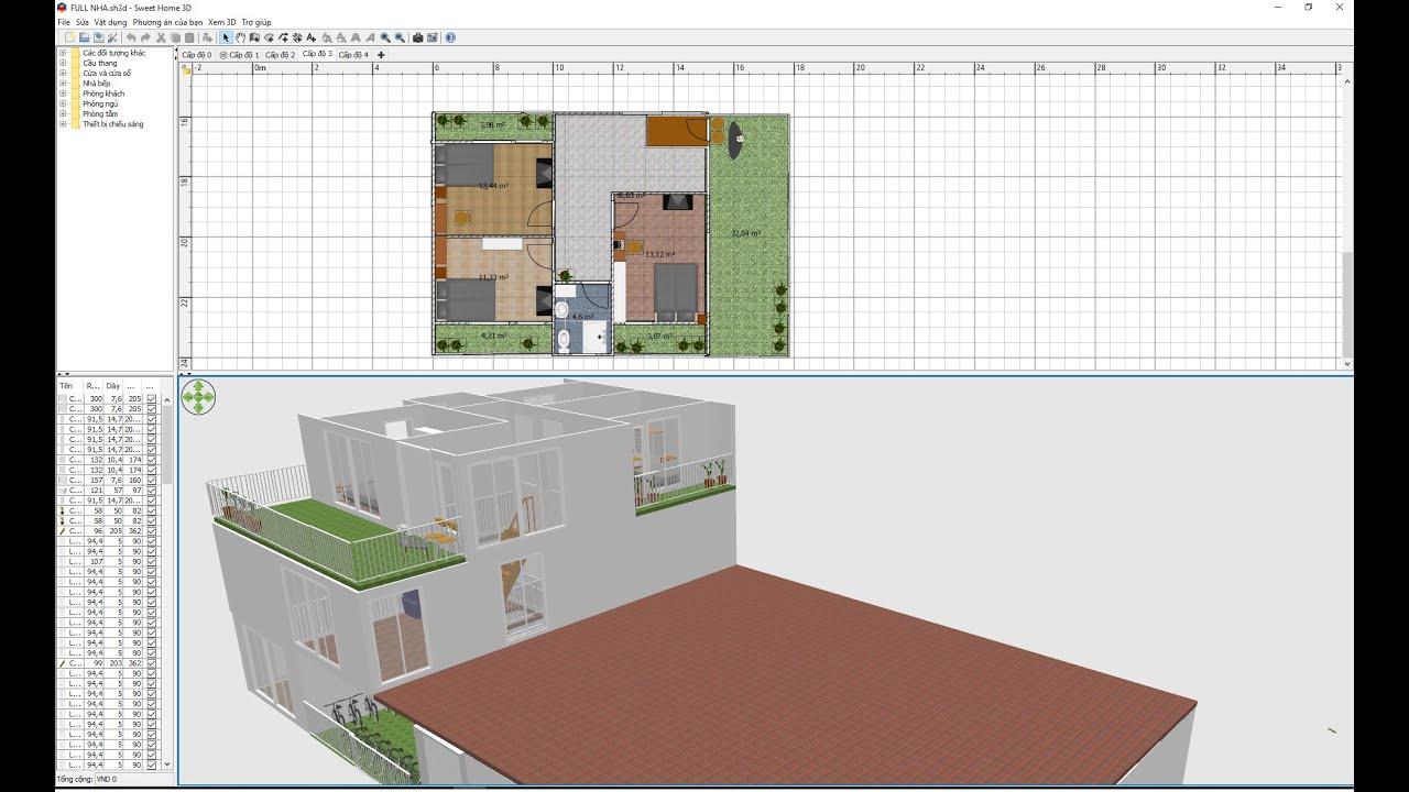 Sweet Home 3D phần mềm thiết kế nhà đơn giản nhất dành cho mọi đối tượng