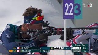 Biathlon debout : Benjamin Daviet décroche l'or ! - Jeux Paralympiques