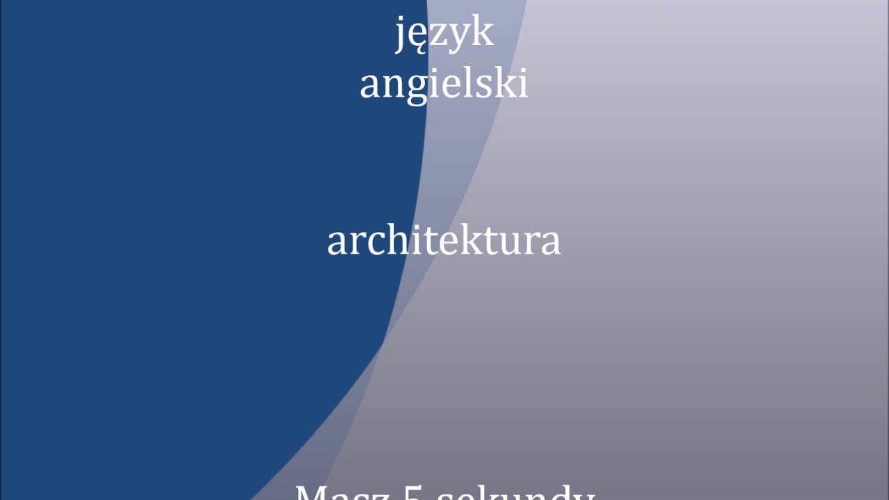 architektura | polski - angielski