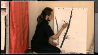 """Обучение китайской живописи бамбука. Часть 15.3 """"Рисуем бамбук"""""""