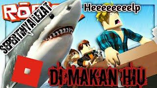 El mismo tiburón/ballena comiendo Aja Roblox Indonesia Mordedura de tiburón