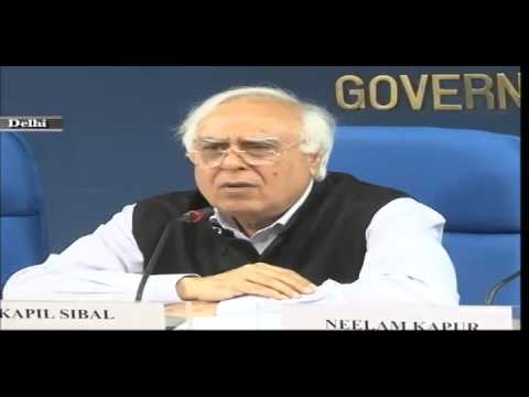 Shri Kapil Sibal, Union Minister For Communications & IT interacting with media on 22-1-13
