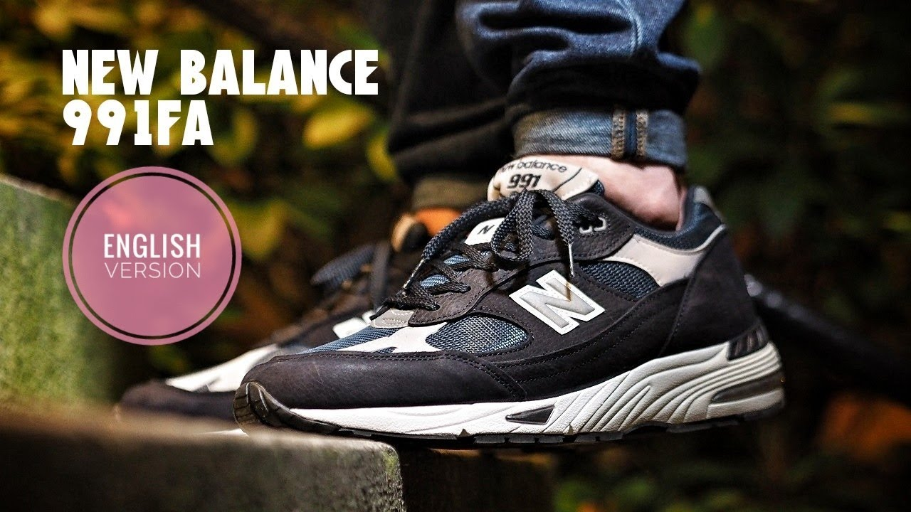new balance 991 on feet
