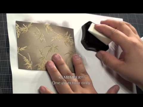 Local King Rubber Stamp Tutorial # 9 ( Embossing With Heat Gun)