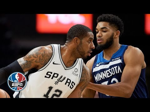 LaMarcus Aldridge wins battle with Karl-Anthony Towns in back-and-forth game | NBA Highlights
