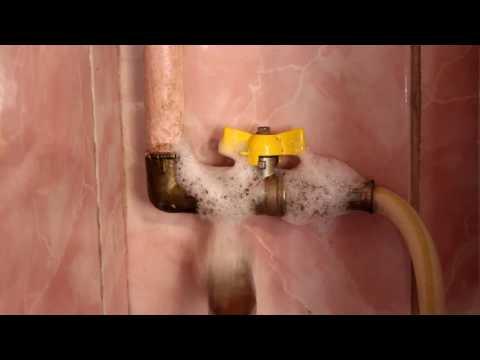 Как проверить утечку газа в домашних условиях мыльной пеной видео