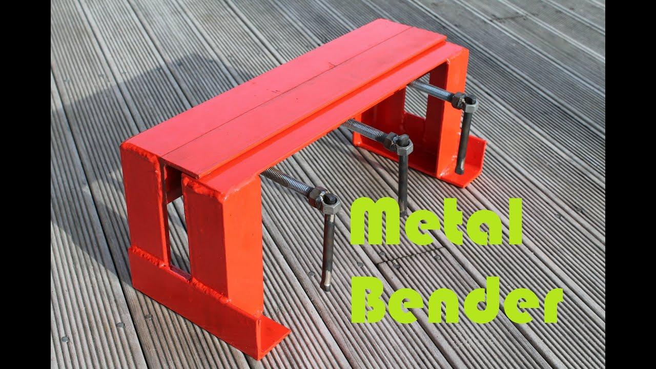 Basic Sheet Metal Bender Youtube