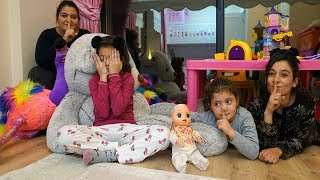 Masal Öykü and Cousin play The Floor is Lava - Hide and Seek Fun Kids Video